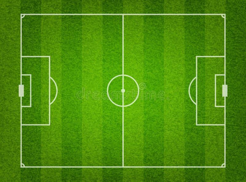 fotboll för green för bakgrundsfältgräs vektor illustrationer