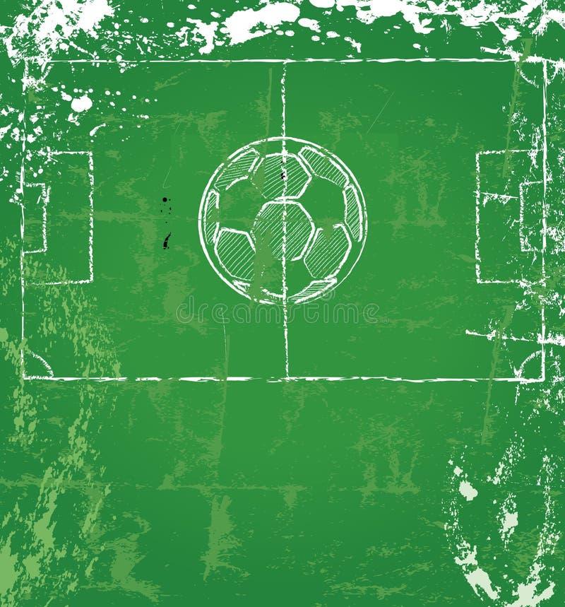 Fotboll-/fotbolldesign stock illustrationer