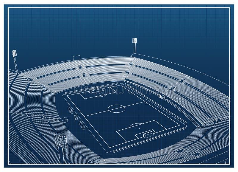 Fotboll - fotbollsarena vektor illustrationer