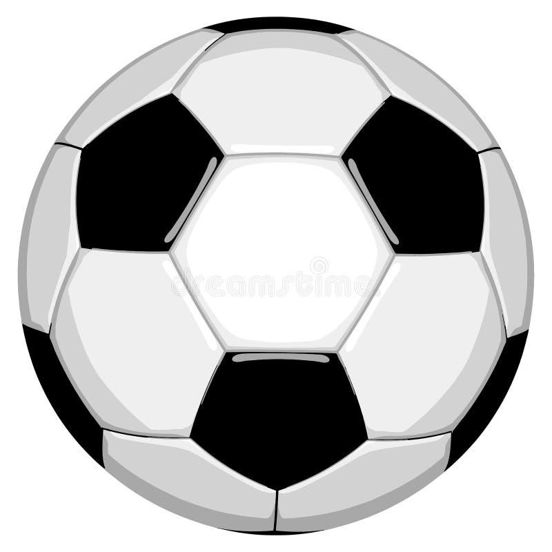 Fotboll i redigerbart vektorformat stock illustrationer