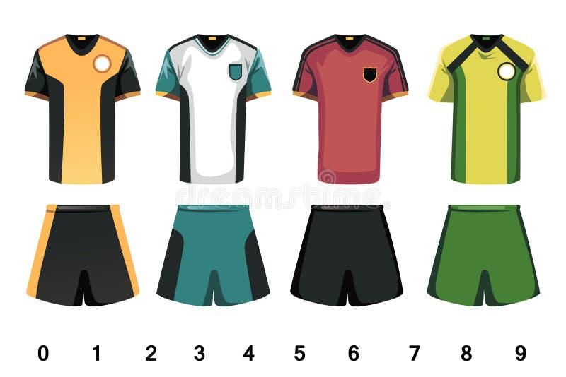 Fotboll jersey vektor illustrationer