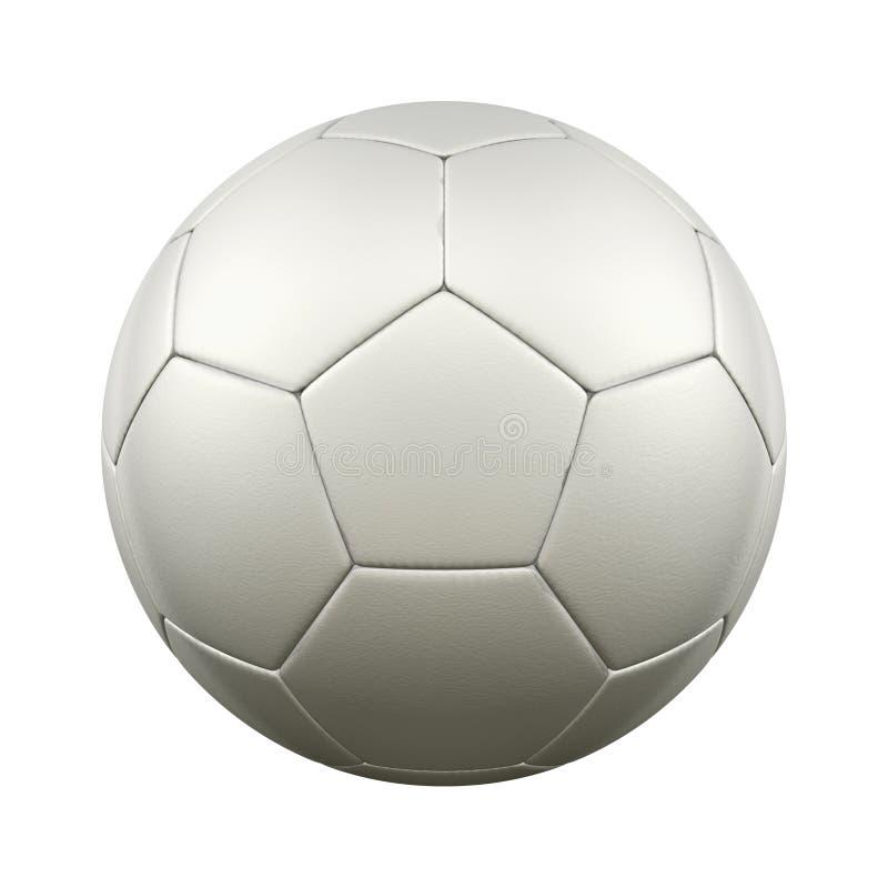 Fotboll klumpa ihop sig vit royaltyfri illustrationer