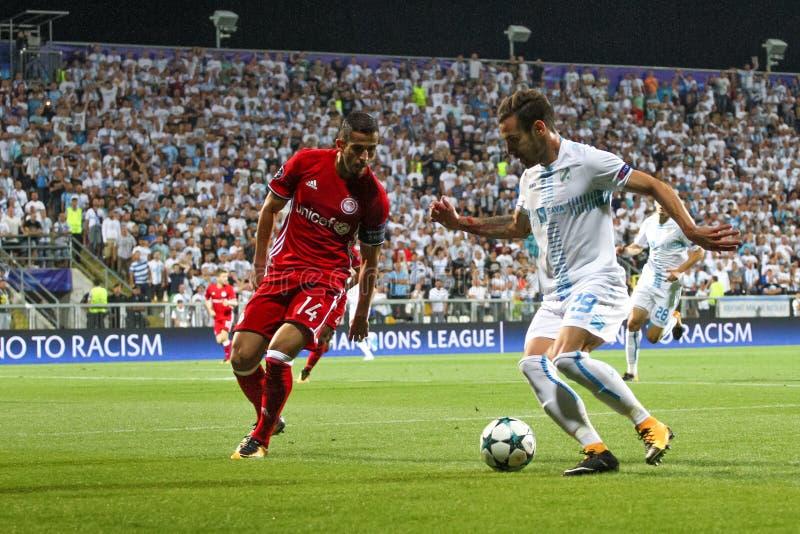 Fotboll - liga för UEFA-mästare royaltyfria foton