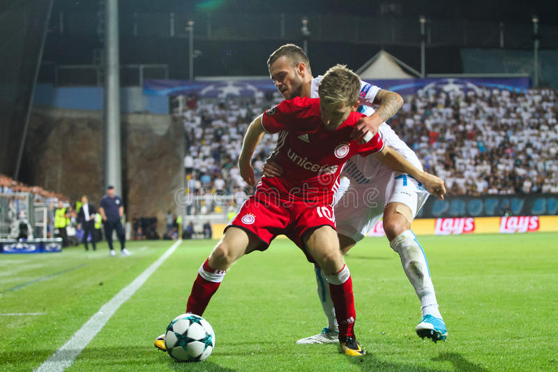 Fotboll - liga för UEFA-mästare royaltyfri foto