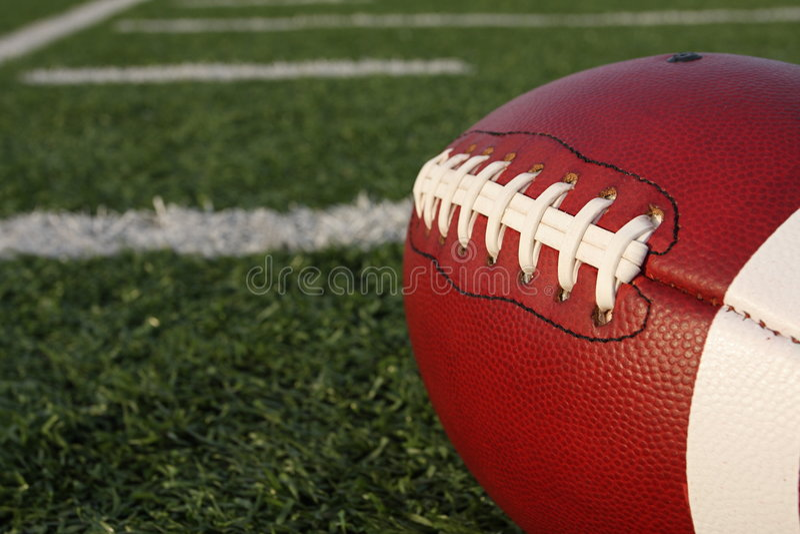 fotboll snör åt royaltyfri bild