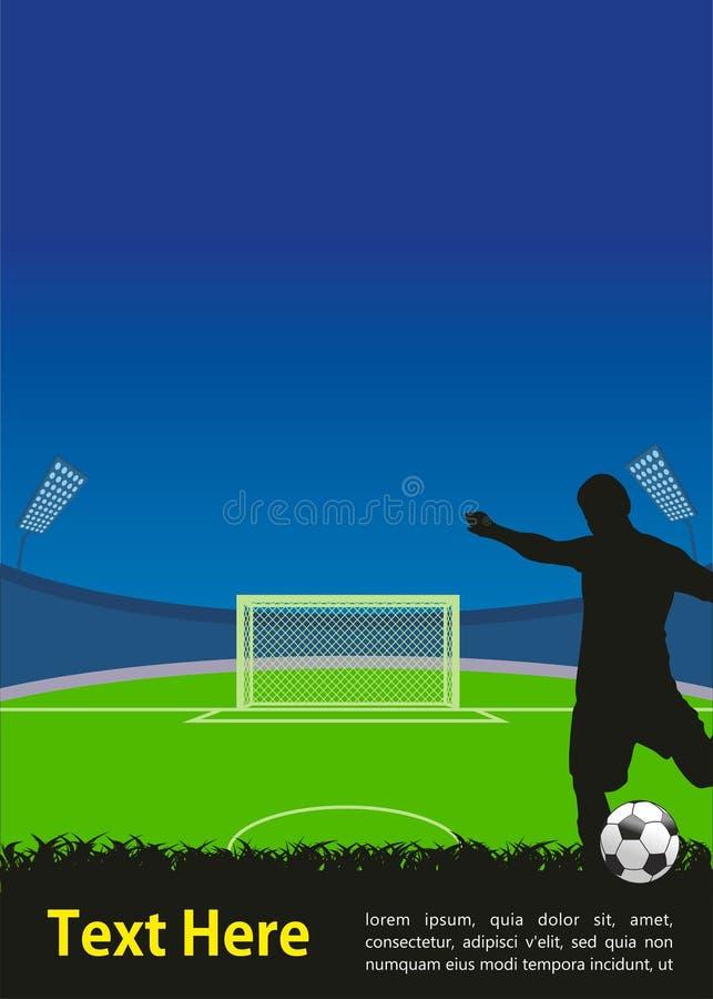 Fotbollaffisch stock illustrationer