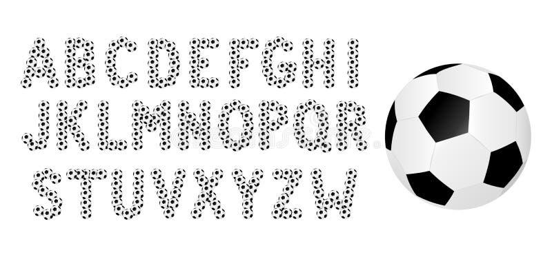 Fotbollalfabet vektor illustrationer