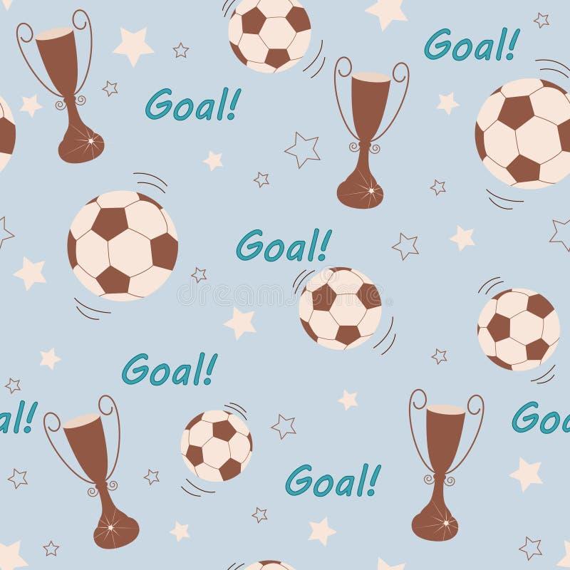 Fotbollbaclgrpund royaltyfri illustrationer