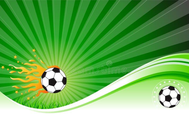 Fotbollbakgrund royaltyfri illustrationer