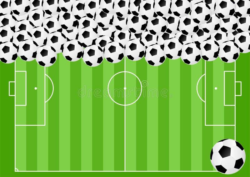 Fotbollbakgrund stock illustrationer