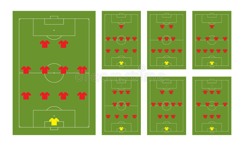 fotbollbildande arkivfoto