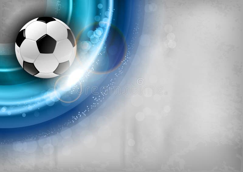 Fotbollblått vektor illustrationer