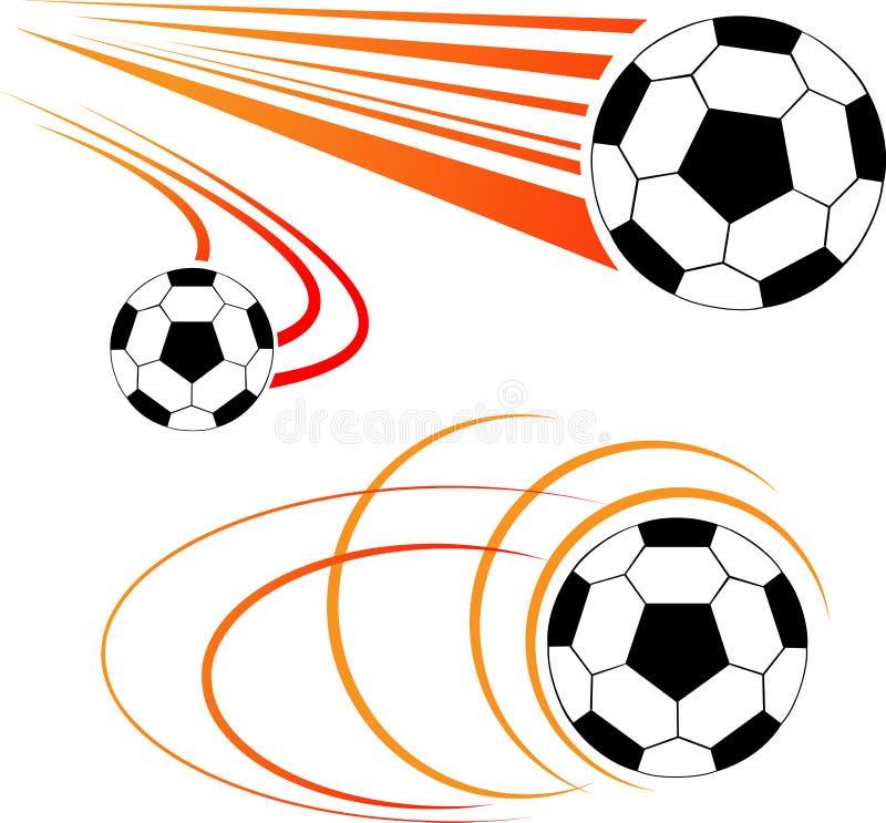 Fotbollboll royaltyfri illustrationer