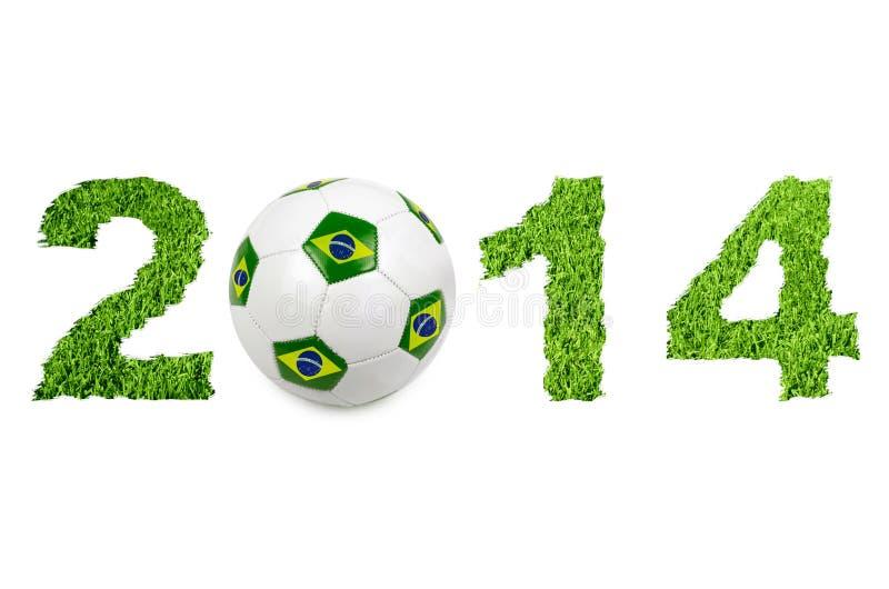 fotbollboll 2014 stock illustrationer