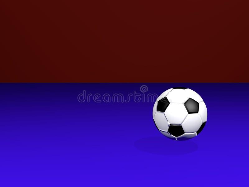 Fotbollboll i en lägenhet med färgerna av Ryssland, också av laget barcelona stock illustrationer