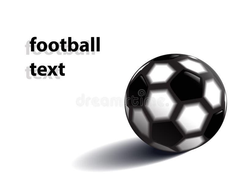 Fotbollboll i vektorn din text royaltyfri fotografi