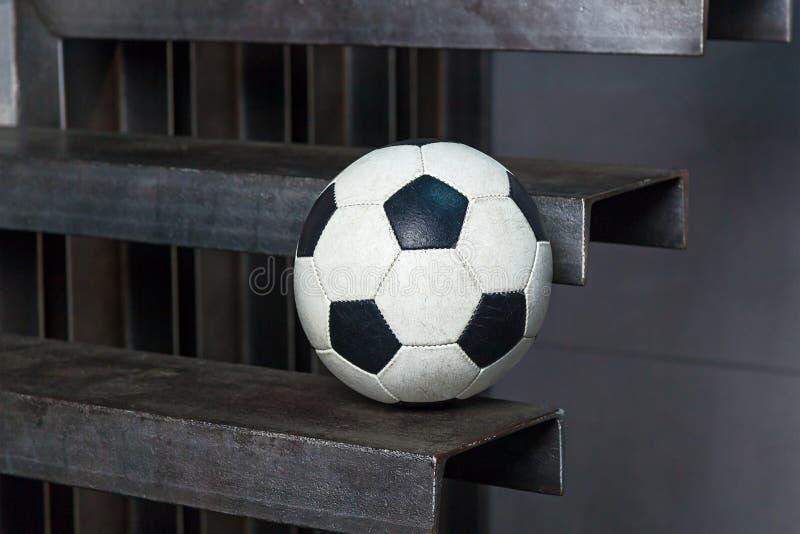 Fotbollboll med royaltyfri bild