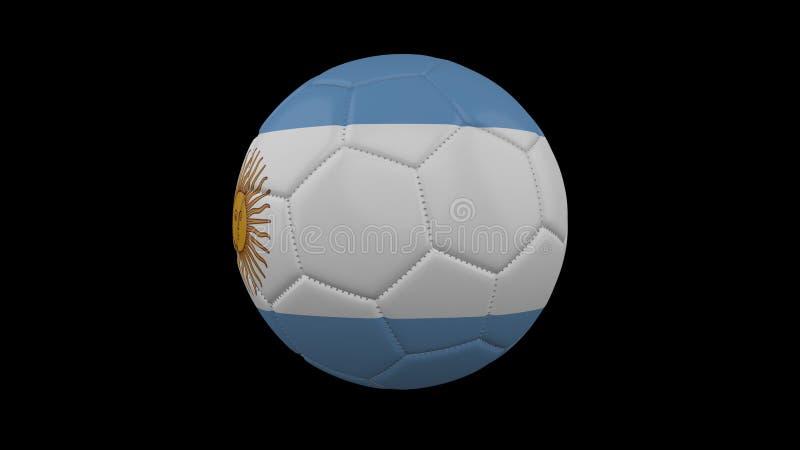 Fotbollboll med flaggan Argentina, tolkning 3d vektor illustrationer