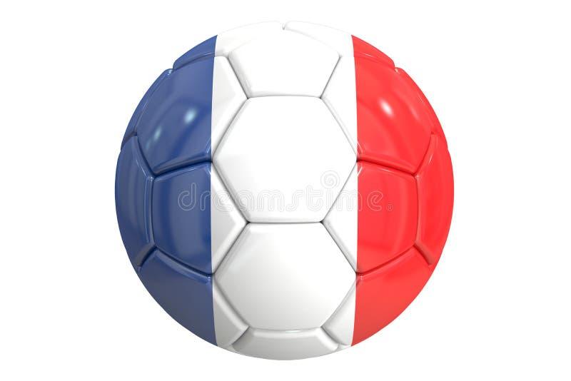 Fotbollboll med flaggan av Frankrike, tolkning 3D vektor illustrationer