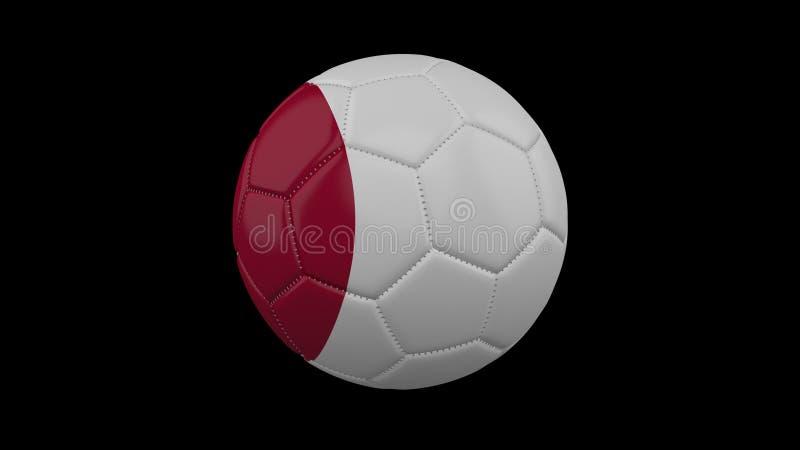 Fotbollboll med flaggan Japan, tolkning 3d royaltyfri illustrationer
