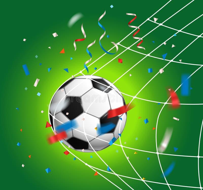 Fotbollboll med konfettiar blå för russia för mvd för konkurrensfk moscow likformig för sun fotboll vs väderwhitezelenograd stock illustrationer
