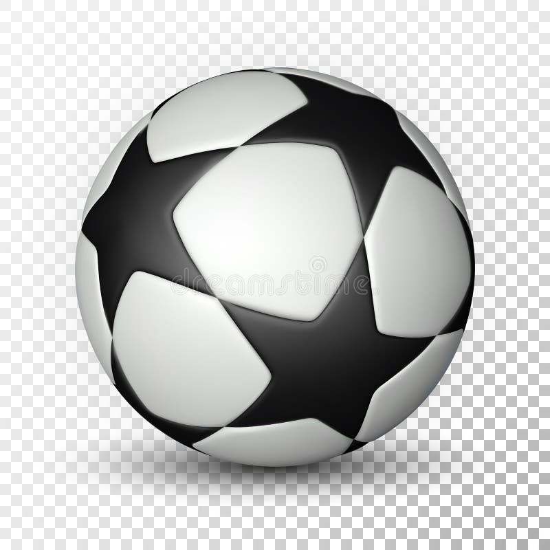 Fotbollboll, fotbollboll på genomskinlig bakgrund också vektor för coreldrawillustration royaltyfri illustrationer