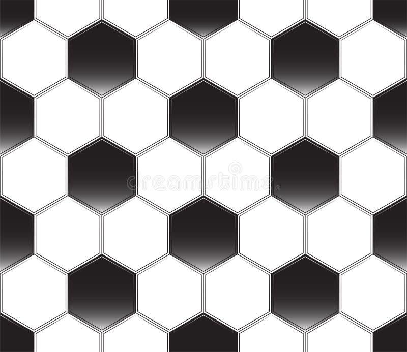 Fotbollboll som ?r svartvit seamless vektor f?r modell Sportmall Textur av en fotboll royaltyfri illustrationer