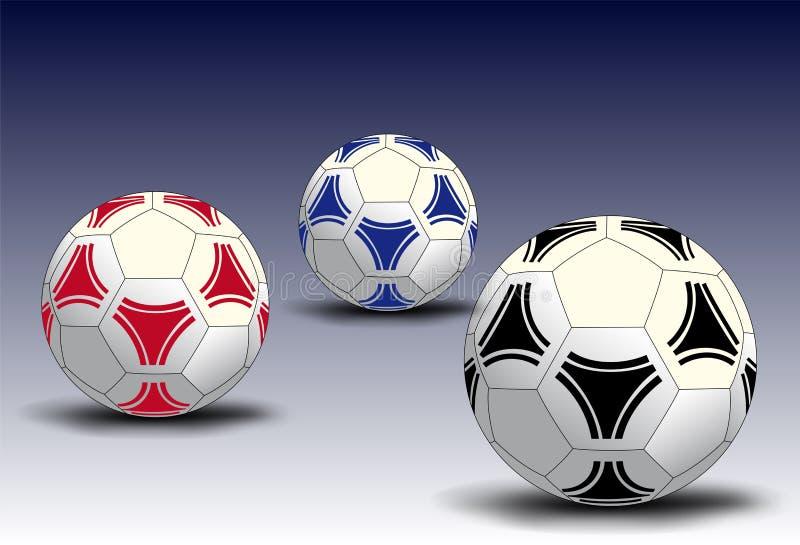 Fotbollbollar stock illustrationer
