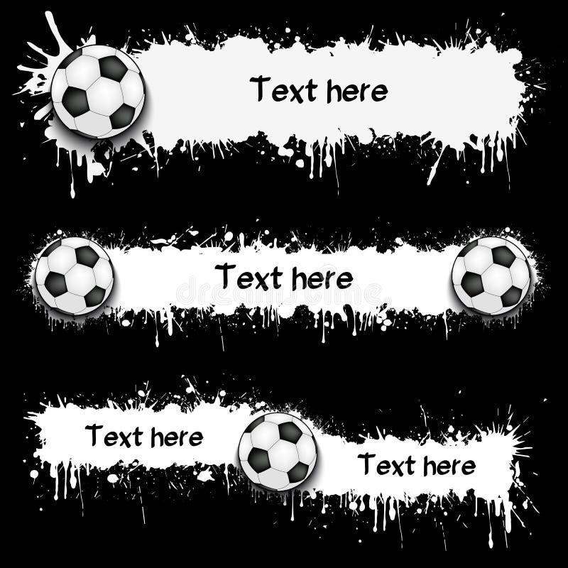 203 - Fotbollbollar och fläckar royaltyfri illustrationer