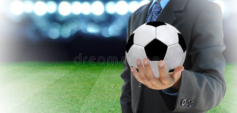 Fotbollchef arkivfoton