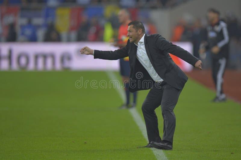 Fotbollchef - Pal Dardai fotografering för bildbyråer
