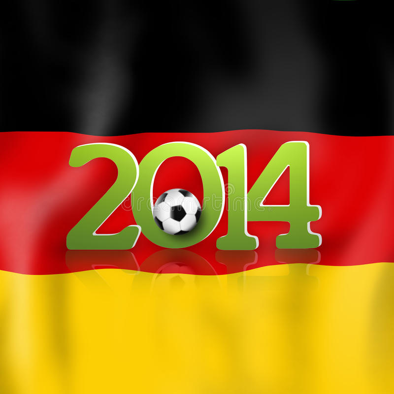 Fotbolldesign 2014 royaltyfri foto