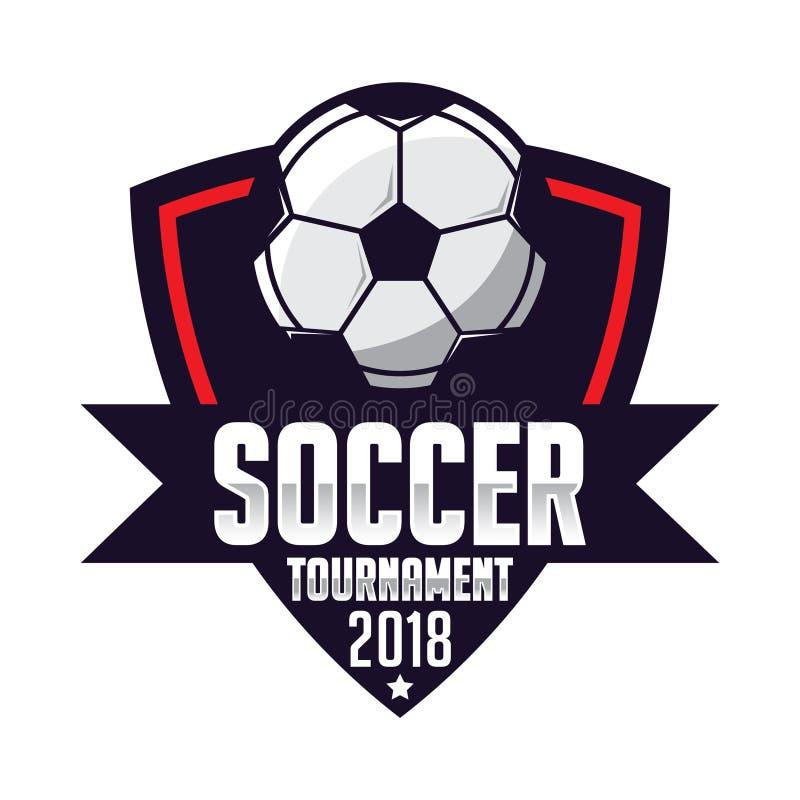 Fotbollemblem, fotbolllogosport royaltyfri illustrationer
