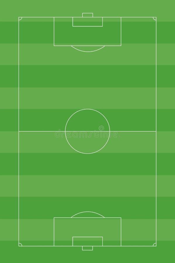 Fotbollfält royaltyfri bild