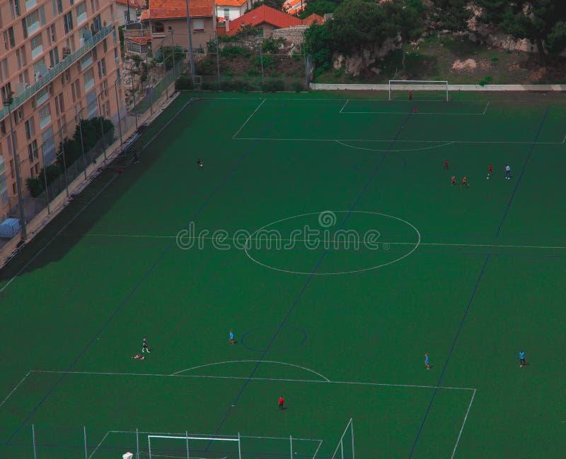 Fotbollfält i Italien royaltyfria foton