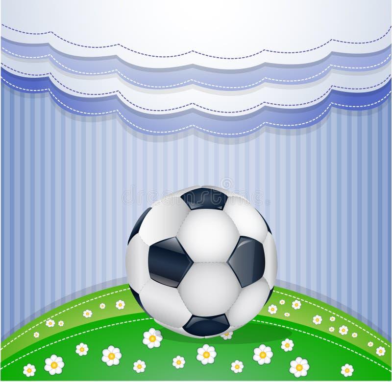 Fotbollfält med bollen. vektor illustrationer