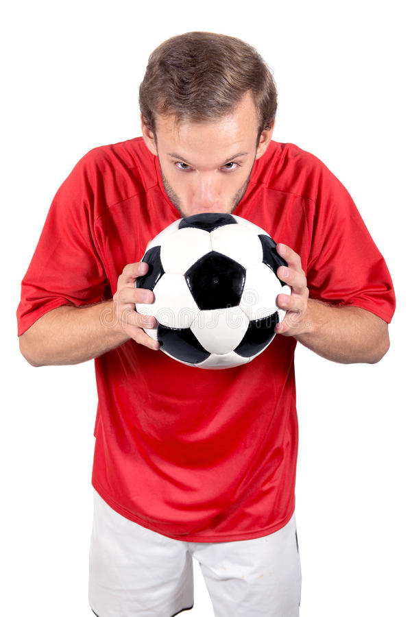 Fotbollförälskelse arkivfoton