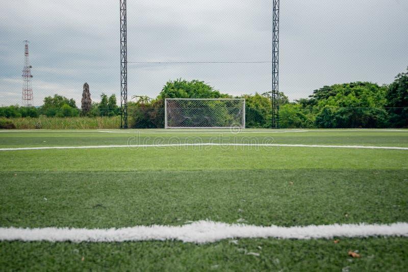 Fotbollf?lt eller fotbollf?lt royaltyfria foton