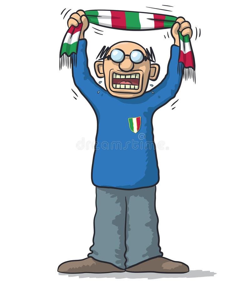 Fotbollfan Italien royaltyfri illustrationer