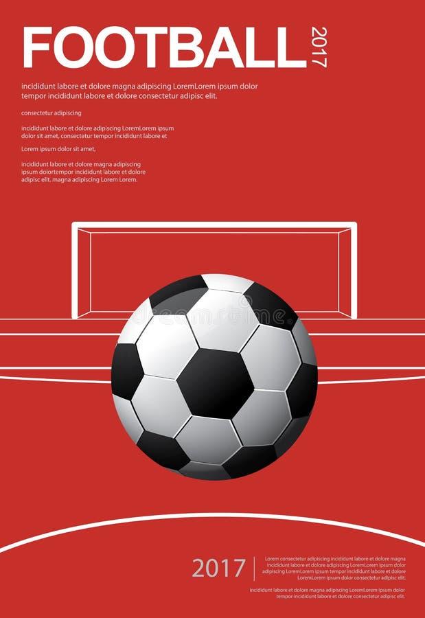 Fotbollfotbollaffisch vektor illustrationer