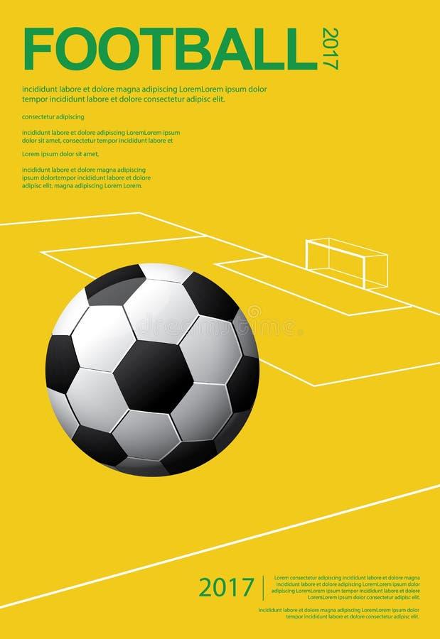 Fotbollfotbollaffisch stock illustrationer