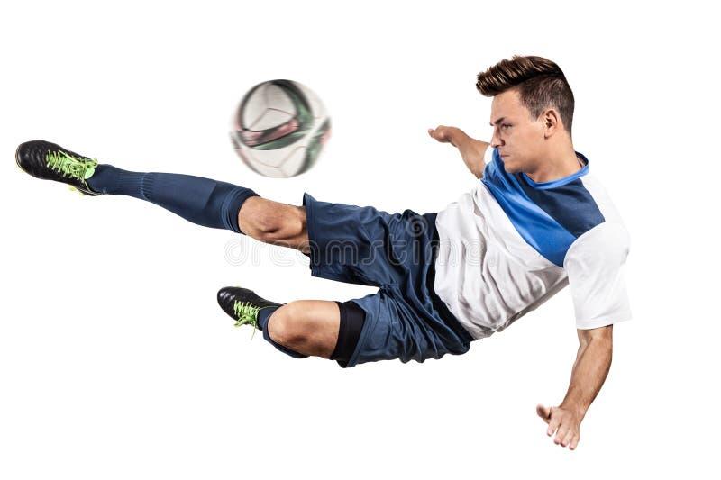 Fotbollfotbollspelare royaltyfri fotografi
