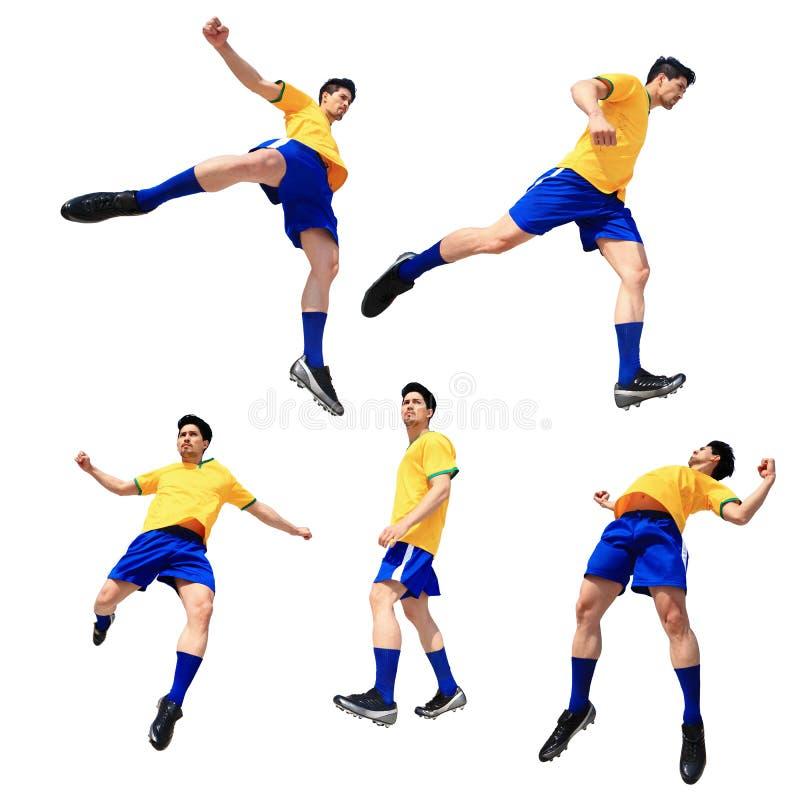 Fotbollfotbollsspelareman arkivbilder