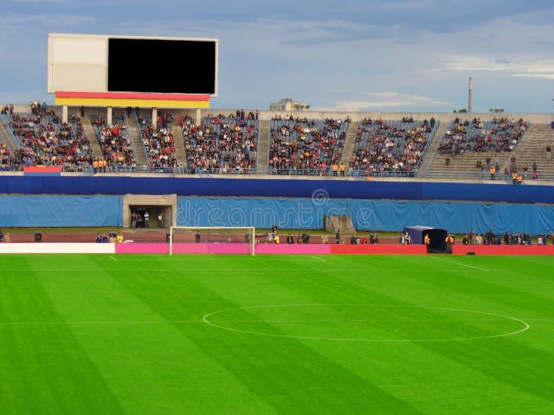 fotbollfotbollstadion arkivbild