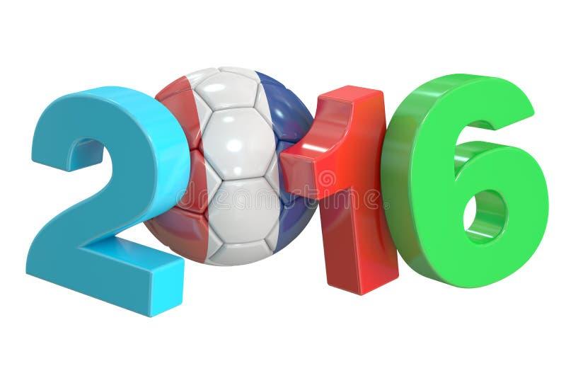 FotbollFrankrike begrepp 2016 royaltyfri illustrationer