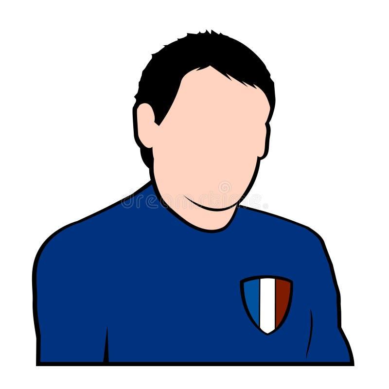 fotbollfransmanspelare stock illustrationer