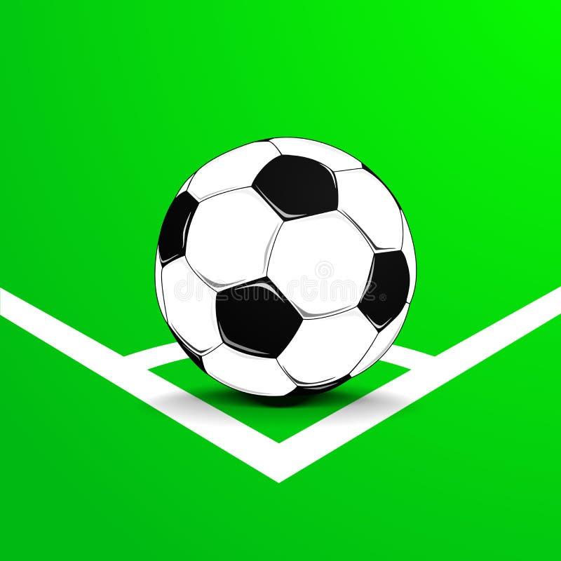 Fotbollhörn med bollen vektor illustrationer