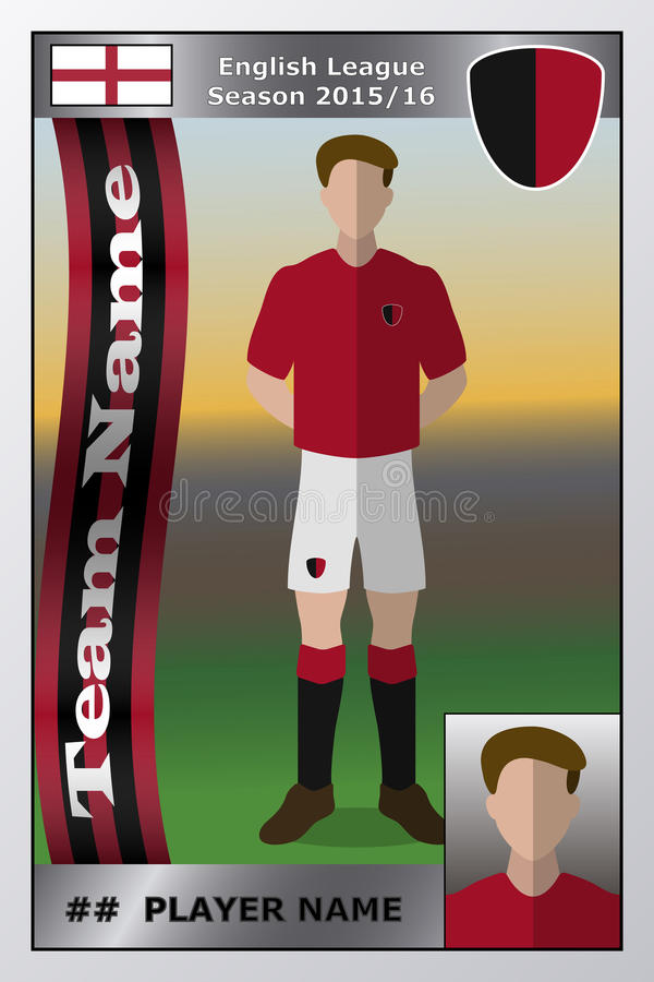 Fotbollhandelkort royaltyfri illustrationer