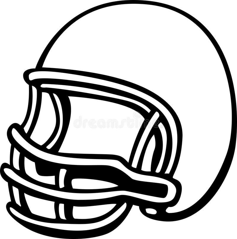 fotbollhjälm stock illustrationer