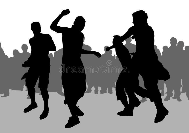 fotbollhuliganer stock illustrationer
